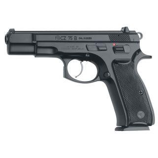 """CZ 75 B 9mm Luger 4.6"""" Barrel W/ Fixed 3 Dot Sights 10+1 Black *CA Compliant* 01102"""