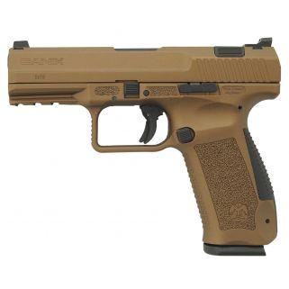 "Century Canik TP9DA 9mm Luger 4"" Barrel W/ Warren Tactical Sights 18+1 Burnt Bronze HG4068BN"
