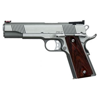 "Dan Wesson 1911 Pointman 38 Super 5"" Barrel W/ Adjustable Target-Fiber Optic Sights 9+1 Cocobolo Grip/Stainless 01860"