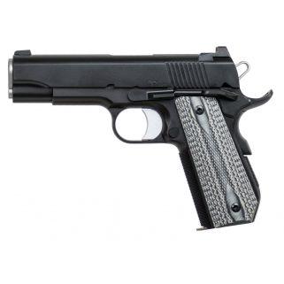 "Dan Wesson 1911 V-BOB 9mm Luger 4.25"" Barrel W/ Tactical Ledge Night Sights 9+1 Grey Double Diamond Grip/Black 01871"