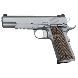 "Dan Wesson 1911 Specialist 9mm Luger 5"" Barrel W/ Tritium Sights 10+1 Brown/Stainless 01893"