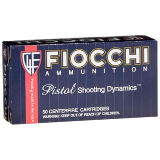 Fiocchi Shooting Dynamics 9x21 IMI 123 Grain FMJ 50 Round Box 9X21