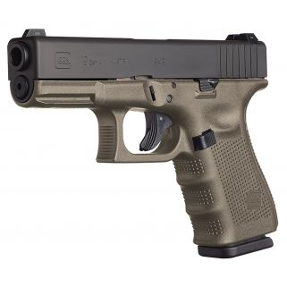 "Glock G19 Gen 4 9mm Luger 4.01"" Barrel 10+1 OD Green PG1957201"