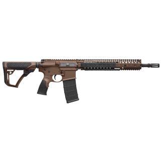 """Daniel Defense DDM4 M4A1 223 Remington/5.56NATO 14.5"""" Barrel 30+1 Brown Cerakote 15126011"""