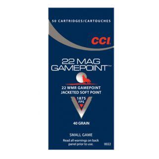 CCI Gamepoint 22 Magnum 40 Gr JSP 50 Rd Box CCI0022