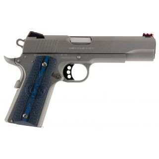 "Colt Government Competition 38 Super 5"" Barrel W/ Novak Red Fiber Optic Sights 9+1 G10 Checkered Grip/Stainless O1073CCS"