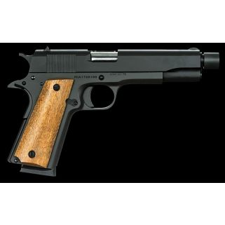 "Rock Island Armory 1911 GI 45ACP 5"" Barrel W/ Fixed Sights 8+1 Smooth Wood Grip/Black 51473"