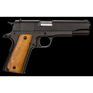 "Rock Island Armory 1911 GI 38 Super 5"" Barrel W/ 2 Dot Tactical Front-Adjustable Rear Sights 9+1 Wood Grip/Black 51815"