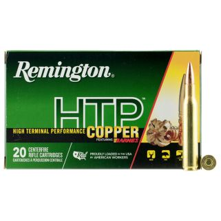 Remington High Terminal Performance Copper 270WIN 130 Grain Brass 20 Round Box HTP270W