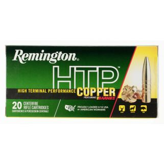 Remington High Terminal Performance Copper 300 Remington Ultra Magnum 180 Grain Brass 20 Round Box HTP300UM