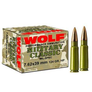 WOLF MC762BFMJ MLT 7.62X39 124 1000