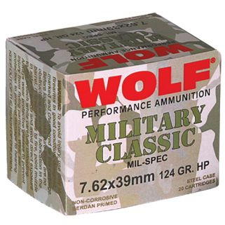 WOLF MC762BHP MLT 7.62X39 124 1000