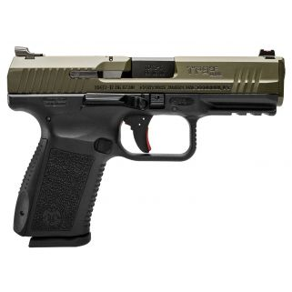 """Century TP9SF Elite 9mm Luger 4.19"""" Barrel W/ Warren Tactical Sights 15+1 OD Green/Black HG3898GN"""