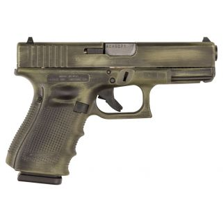"Glock G19 Gen 4 9mm Luger 4.01"" Barrel 15+1 OD Green Battleworn UG1950204"