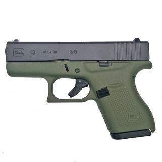 """Glock G43 Gen 3 9mm 3.39"""" Barrel 6+1 BG UI4350201BFG"""