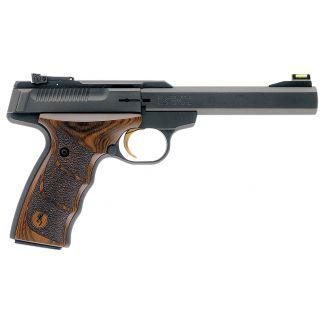 "Browning Buck Mark Plus 22LR 5.5"" Barrel W/ TruGlo Fiber Optic-Pro Target Sights 10+1 *CA Compliant* Textured Wood Grips/Black 051428490"