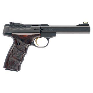 "Browning Buck Mark Plus 22LR 5.5"" Barrel W/ TruGlo Fiber Optic-Pro Target Sights 10+1 *CA Compliant* Textured Grips/Matte Blued 051429490"