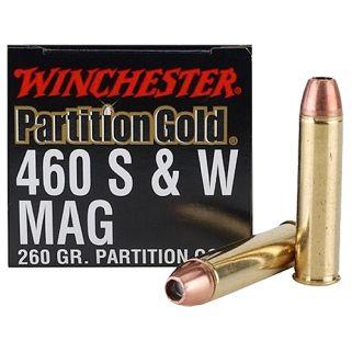 Winchester Supreme Partition Gold 460S&W Magnum 260 Grain 20 Round Box SPG460SW