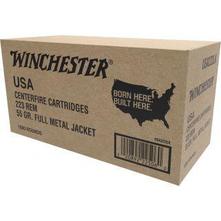 Winchester USA Best Value 223 Remington/5.56NATO 55 Grain FMJ 100 Round Box USA223LK
