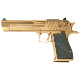 """Magnum Research Desert Eagle 50AE 6"""" Barrel W/ Combat-Fixed Sights 7+1 Black/Titanium Gold DE50TG"""