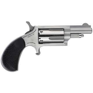 "NAA Mini Revolver 22 Magnum 1.625"" Barrel W/ Fixed Sights 5Rd Black Rubber Grip/Stainless 22MGRCHSS"