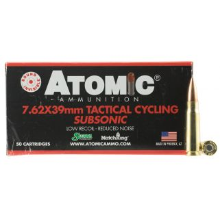 ATOMIC 00474 7.62X39 220 CYCLING TACT SUBS 50/10