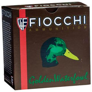 "Fiocchi Golden Waterfowl 12 Gauge 3 Shot 3"" 25 Round Box 123SGW3"