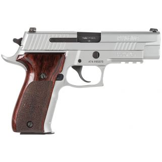 """Sig Sauer P226 Full Size Elite 9mm Luger 4.4"""" Barrel W/ SigLite Night Sights 15+1 Rosewood Grips/Stainless E26R9SSE"""