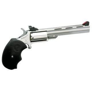 "NAA Mini Master 22LR 4"" Barrel W/ Marble Arms Adjustable Sights 5Rd Black Rubber Grip/Stainless MMTL"