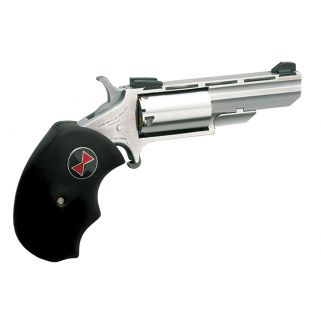 "NAA Mini Revolver Black Widow 22 Magnum 2"" Barrel W/ Marble Arms Sights 5Rd Black Rubber Grip/Stainless BWM"