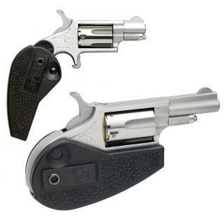"""NAA Mini Revolver Holster Grip 22LR/22 Magnum 1.625"""" Barrel W/ Fixed Front-Notched Rear Sights 5Rd Stainless HGMC"""