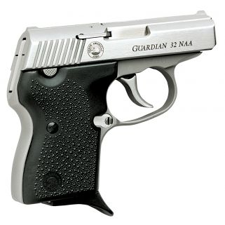"NAA Guardian 32ACP 2.19"" Barrel W/ Fixed Sights 6+1 Black Grip/Stainless GUARDIAN"