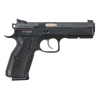 "CZ Accushadow 2 9mm 4.89"" Barrel W/ Fiber Optic Front Sights 17+1 Black 91763"