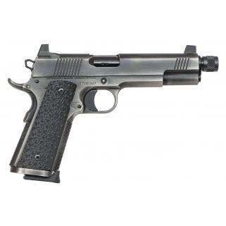 """Dan Wesson 1911 Wraith 10mm 5.7"""" Threaded Barrel W/ Night Sights 9+1 Black G10 Grip/Distressed Stainless 01848"""
