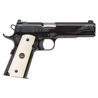 "Dan Wesson 1911 50th Anniversary 45ACP 5"" Barrel W/ Bead Front/ Night Rear Sights 8+1 Ivory G10 Grips W/ DW Medallion 01945"