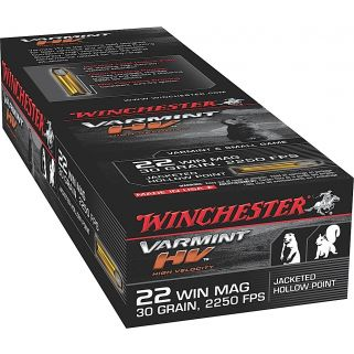 Winchester Varmint HV 22WIN Magnum 30 Grain HP 50 Round Box S22M2