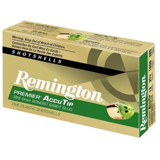 "Remington Premier AccuTip 12 Gauge Slug Shot 3"" 5 Round Box PRA12M"