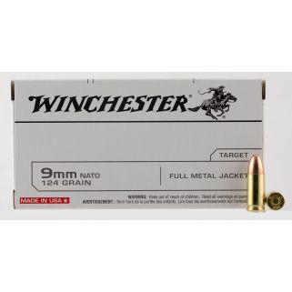 Winchester USA 9mm 124 Grain FMJ 50 Round Box Q4318