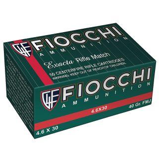 Fiocchi Exacta 4.6x30H&K 40 Grain FMJ 50 Round Box 46EXA