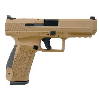 "Century Canik TP9SA Mod 2 9mm Luger 4.46"" Barrel W/ Warren Tactical Sights 18+1 Flat Dark Earth HG4542DN"
