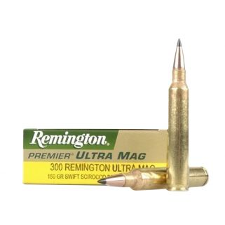 Remington Premier 300 Remington Ultra Magnum 180 Grain Brass 20 Round Box PR300UM3