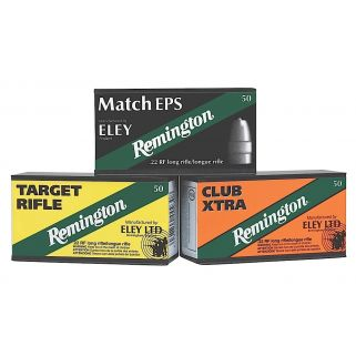 Remington Eley Club Xtra 22LR 40 Grain Brass 50 Round Box RE22CX
