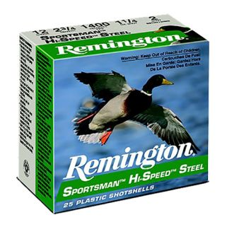 "Remington Sportsman Hi-Speed Steel 12 Gauge BB Shot 3"" 25 Round Box SST12HMB"