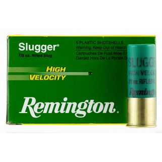 "Remington Slugger High Velocity 12 Gauge Slug Shot 3"" 5 Round Box SPHV12MRS"