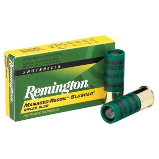 "Remington Managed Recoil Slugger 12 Gauge Slug Shot 2.75"" 5 Round Box RL12RS"