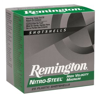 "Remington Nitro Steel 12 Gauge 4 Shot 3"" 25 Round Box NS12HM4"
