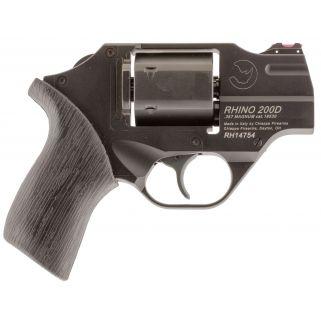 "Chiappa Rhino 200D 357 Magnum 2"" Barrel W/ Fiber Optic Sights 6Rd Black Rubber Grip/Black CF340217"