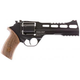 """Chiappa Rhino 357 Magnum/38 Special 6"""" Barrel W/ Adjustable Sights 6Rd Walnut Grip/Black 340221"""