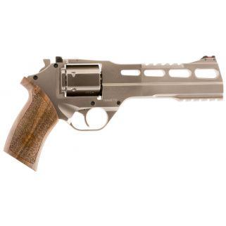 "Chiappa Rhino 60DS 357 Magnum/38 Special 6"" Barrel W/ Adjustable Sights 6Rd Walnut Grip/Nickel 340224"