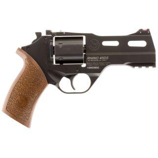 """Chiappa Rhino 40SAR 357 Magnum 4"""" Barrel W/ Blade Front Sights 6Rd Walnut Grip/Black 340244"""